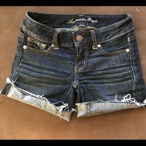AE jean shorts, 0
